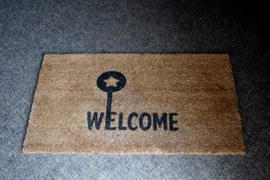 Our Welcome Mat at the door